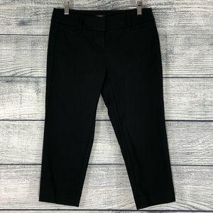 NWOT LOFT Marisa Cropped Black Pants 0 Petite